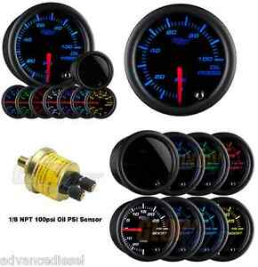Glowshift Tinted 7 Color Psi Oil Pressure Gauge Gs T704