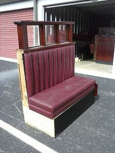 Cherry Mahogany Booths Wrapped In Burgundy