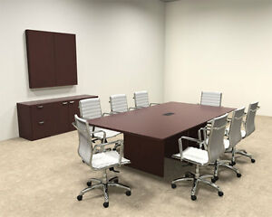 Wood Modern Rectangular Shaped 8 Feet Conference Table of tec c4