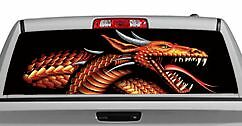 Truck Rear Window Decal Graphic tattoos Themes Fire Power 20x65in Dc41003