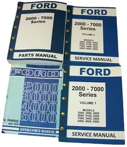 Lot Ford 3000 4000 Series Tractor Service Repair Operators Parts Manuals Catalog