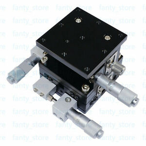 New Xyz 3 Axis Linear Stage 60mm X 60mm Cross roller Bearing Left Stage u1 4l
