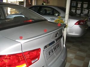 Rear Trunk Spoiler 3d Silver Painted For 2008 2012 Kia Forte All New Cerato