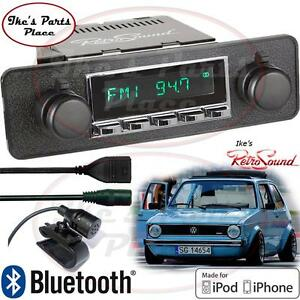 Retrosound Vw Rab golf Model 2 c Radio bluetooth usb 3 5mm Aux in For Ipod