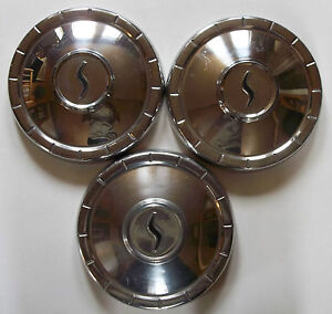 1960 s Studebaker 10 Inch Dog Dish Poverty Hub Caps Wheel Covers Lot Of 3 D