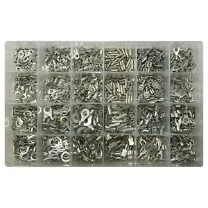 1200 Uninsulated Wire Terminal Crimp Connectors Non Insulated Assortment Kit Usa
