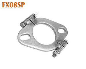 Fx08sp 2 3 8 Id Flat Oval Two Bolt Split Exhaust Flange For 2 25 2 375 Pipe