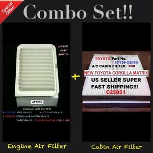 Engine cabin Air Filter Af5655 C25851 For 09 18 Corolla Vibe Xd Yaris Matrix