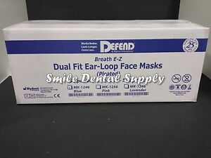 Blue Pleated Earloop Mask 10 Boxes total 500 Masks By Defend Mk 1246