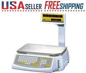 Easy Weigh Ls 100 Pole Printing Label Scale Ls100 Ntep 60lb Deli Meat Grocery