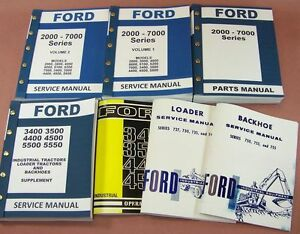 Ford 3400 3500 Loader Backhoe Tractor Service Repair Shop Operator Parts Manuals