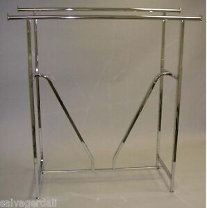 Retail Clothes Hanger Clothing Rack 60 Double Rail Store Display Lot Of 10 New
