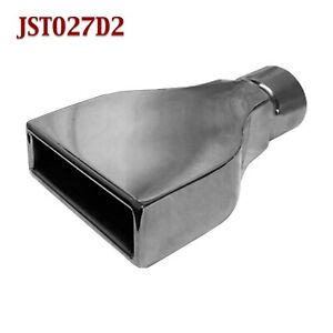 Jst027d2 2 5 Black Rectangle Camaro Exhaust Tip 2 1 2 Inlet 6 Wide 9 Long