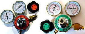 Propane or Acetylene Oxygen Regulator Set 3 Inch Gauges Torch Welding