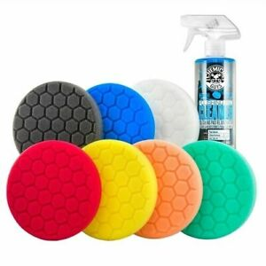 Chemical Guys Hex logic 5 5 Best Buffing Pads Kit 8 Items Buf_hexkits_8p
