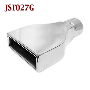 Jst027g 2 5 Stainless Rectangle Camaro Exhaust Tip 2 1 2 Inlet 6 Wide 9 Long