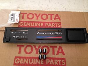 New 1984 88 Toyota Pickup Truck Bezel Knobs Heater Climate Control Faceplate