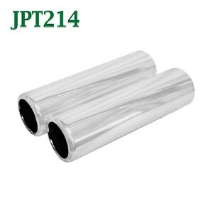 Jpt214 Pair 2 25 Chrome Pencil Exhaust Tips 2 1 4 Inlet 2 1 2 Outlet 9 Long