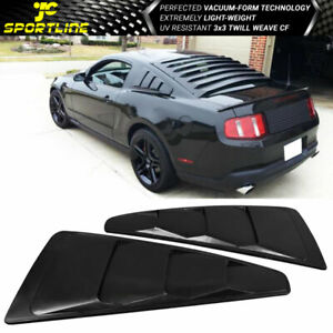 Fits 05 14 Ford Mustang V6 Side Window Louver Quarter Board Abs