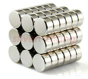 25pcs 10mm X 5mm Neo Neodymium Disc Rare Earth Strong Magnets Craft Models N35