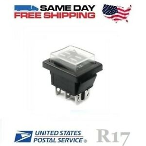 Waterproof Dpdt Double Pole Double Throw 6 pin on off on 20amp Rocker Switch
