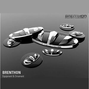 1set 7pcs Brenthon F R Wheel Hub Emblem Black For Hyundai Veloster 2011 2016