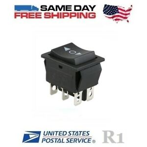 Momentary Dpdt Double Pole Double Throw 6 pin on off on 20amp Rocker Switch