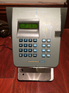 Recognition Sysytems 4000 Biometric Hand Scanner Time Clock W Ethernet