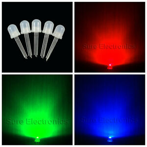 250 X 10mm 4pin Tri color Diffused Rgb Common Anode Manual Control Led