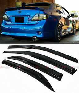 For 2009 2013 Toyota Corolla 3d Wavy Tinted Smoke Window Visor Sun Rain Guard