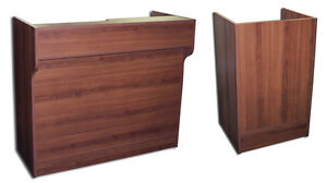 Combo 22 Register Stand 48 Ledgetop Counter Retail Store Cherry Knockdown New