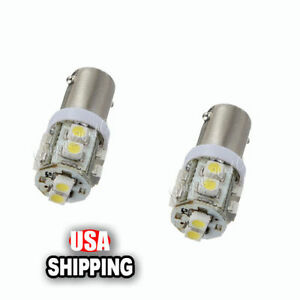 2pcs Ba9s 10 Smd Xenon White High Power Led Light Bulb Car Van Truck Dc 12v Lamp