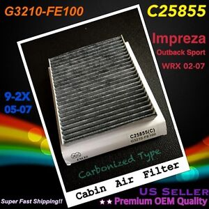 Carbonized Cabin Air Filter For Subaru Impreza Outback Sport Wrx 02 07 Great Fit