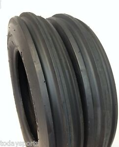 Two New 5 00 15 Tractor Tires 5 00x15 3 Rib F2 Tractor Farm 2 Tires 500 15