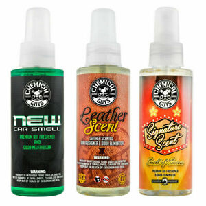 Chemical Guys Air30104 New Car Leather Signature Scent Sample Kit 4 Oz
