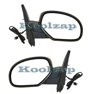 Chevy Truck Tahoe Power Heated Folding Rear View Mirror Left Right Side Pair Set