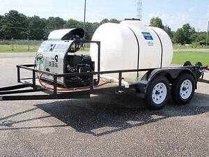 Magnum 3000 Psi Trailer Unit With 500 Gallon Water Tank