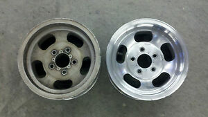 Chevy Ford Dodge 5 X 4 3 4 Vintage Slotted U S Indy Mag Wheel 14 X 7