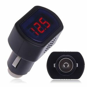 Digital Led Auto Car Truck Cigarette Lighter Volt Voltage Gauge Meter 12v 24v