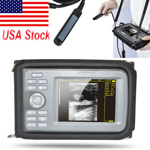 5 5 Mini V8 Veterinary Portable Digital Ultrasound Scanner 4 0mhz Rectal Probe