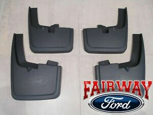 15 Thru 19 F 150 Oem Genuine Ford Molded Splash Guards Mud Flaps With Wheel Lips
