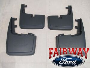 15 Thru 20 F 150 Oem Ford Molded Splash Guards Mud Flaps Without Wheel Lip Mldg