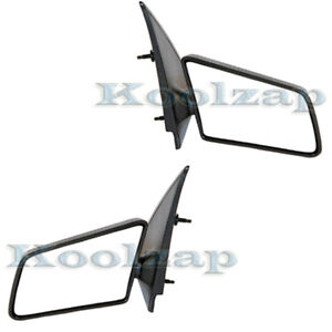 94 04 Chevy S10 Pickup Truck Small 3x5 Manual Mirror Left Right Side Set Pair
