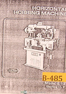 Barber Colman Horizontal Hobbing Shapers Facts Features Specs Manual 1982