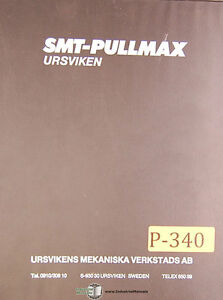Pullmax Gst 430 M2718 Power Shear Instructions And Parts Manual 1979