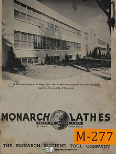 Monarch Kk12 Lathe Operations And Parts Manual Year 1949
