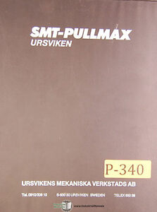 Pullmax Gst 430 M2560 Power Shear Instructions And Parts Manual 1979