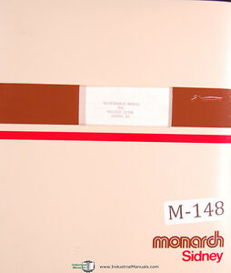 Monarch Series 10 Lathe Maintenance And Parts List Manual Year 1975