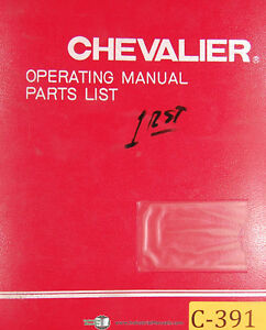 Chevalier Fsg 1020 Ad Grinding Attachment Operations Parts Maintenance Manual