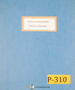 Pullmax X8 Beveling Machine Operations And Parts Manual Year 1959